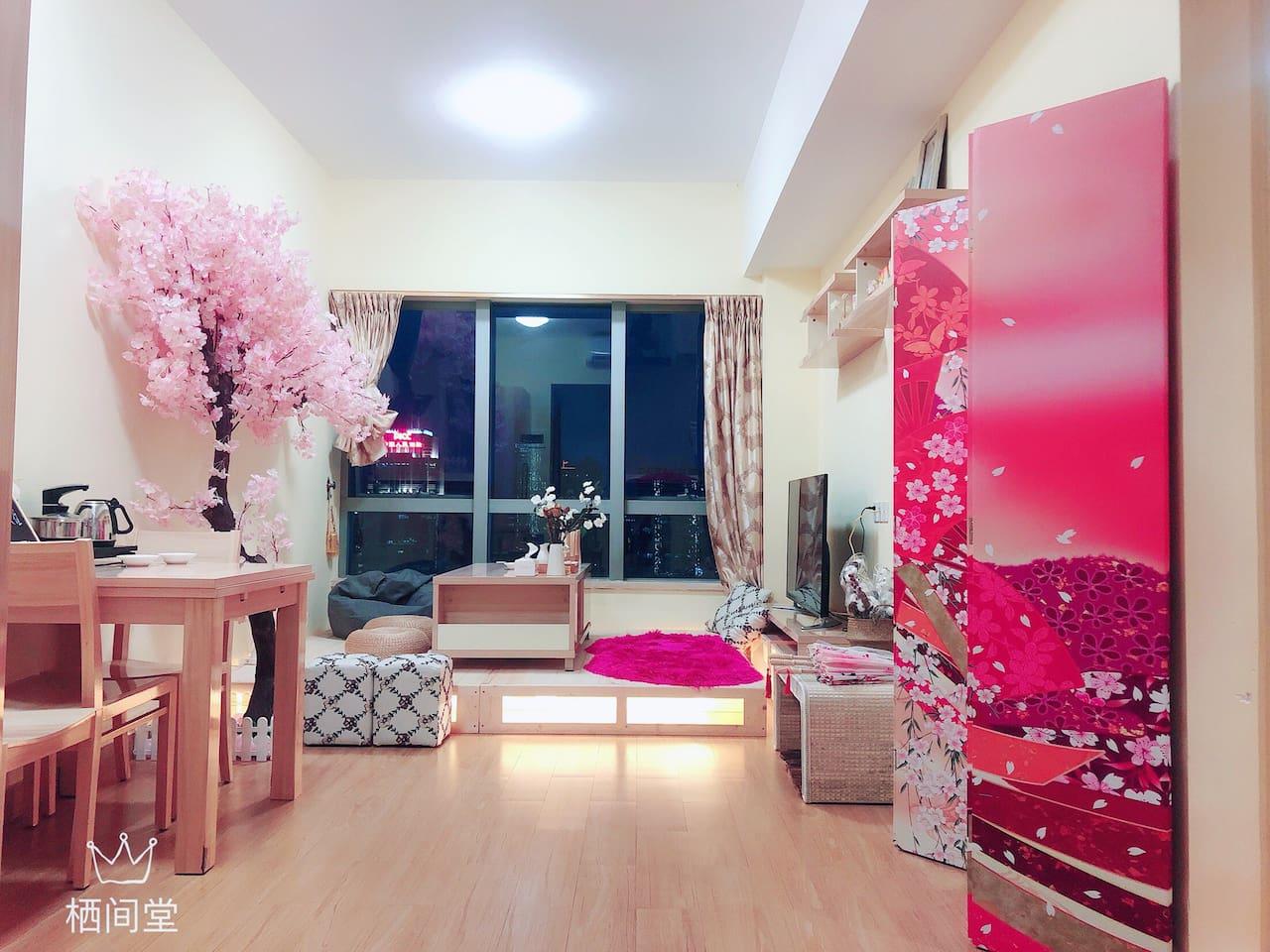 「YKG栖间堂」华贸懒宅/落地城景/阳光两居/华贸中心