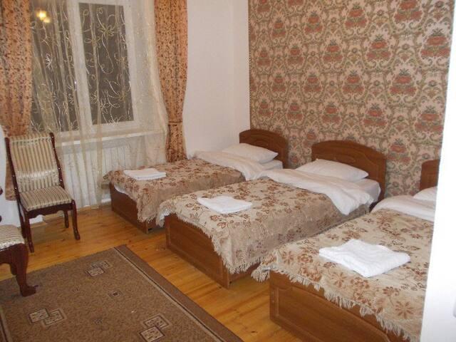 """Уютный трехместный номер отель """"Белые ночи"""" - Dombay - Bed & Breakfast"""