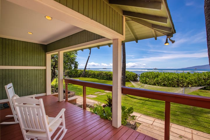 BEACHFRONT Plantation Home Lahaina Maui