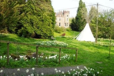 Tipi in pretty woodland setting - Drymen
