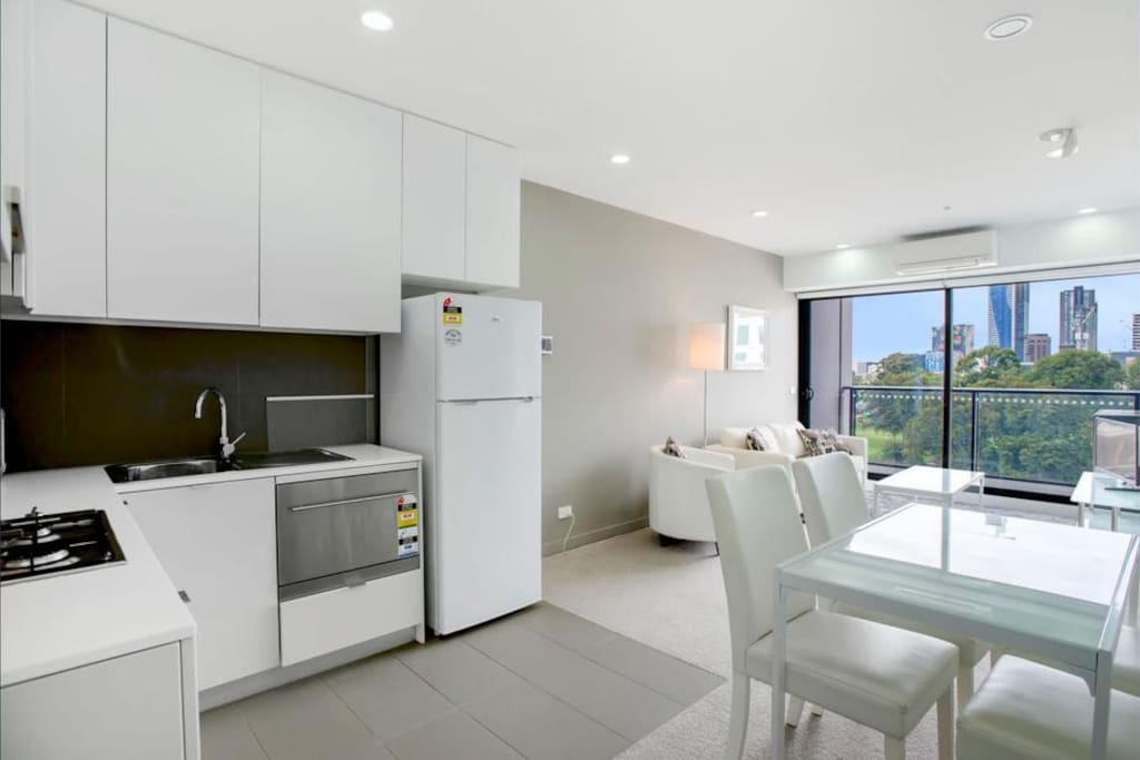 Spacious Living, Dining and Kitchen.