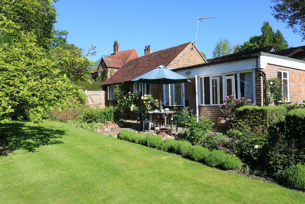 South facing secluded garden exclusively for guest use