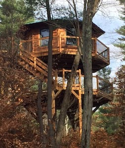 Enchanted Treehouse overlooks river - Blakeslee