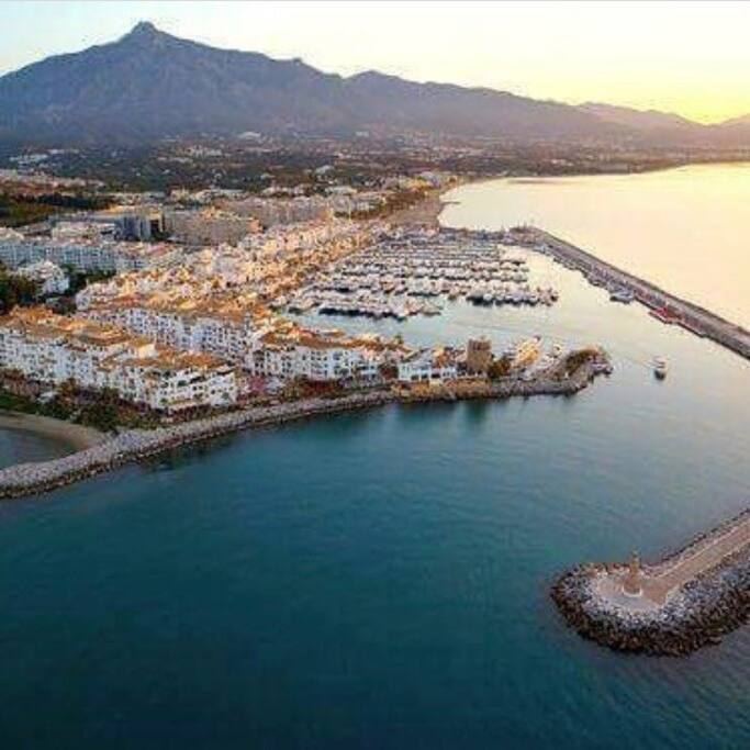 Puerto Banus Birds Eye View