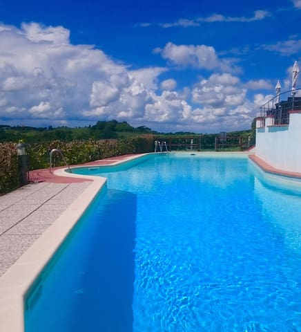 Apt Trilo with pools,WIFI, BBQ - Montaione - Flat