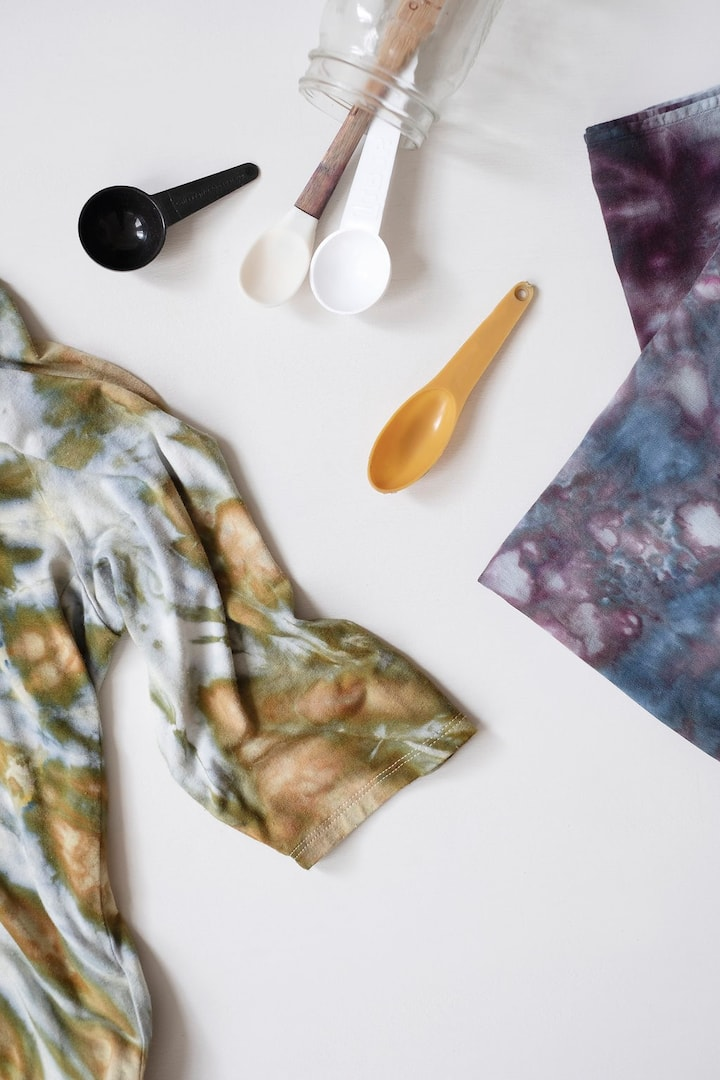 Experiment with ice dye or shibori