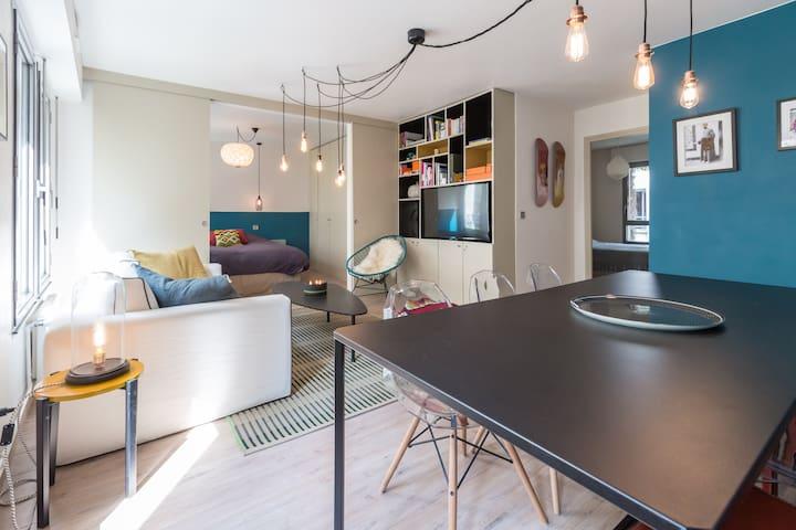 Lovely&Modern Marais, 2 bedrooms - Paříž - Byt