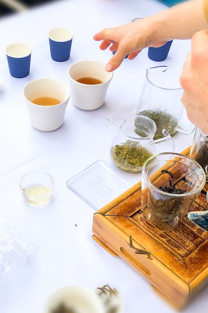 Tasting two different Green Teas.