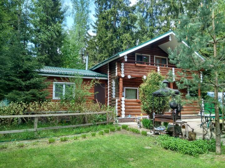 Уютный гостевой дом в лесу