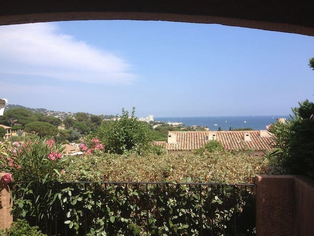 Ocean view over the gulf of St. Tropez