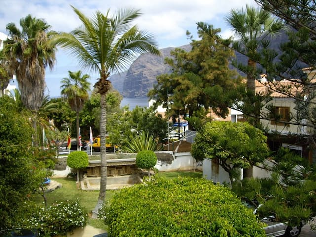 2nd Bed Private Balcony View of Village and Los Gigantes Cliffs