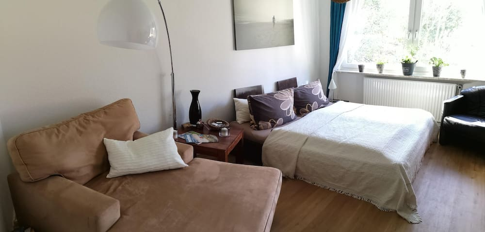 Cozy room with workspace nearby city center Husum