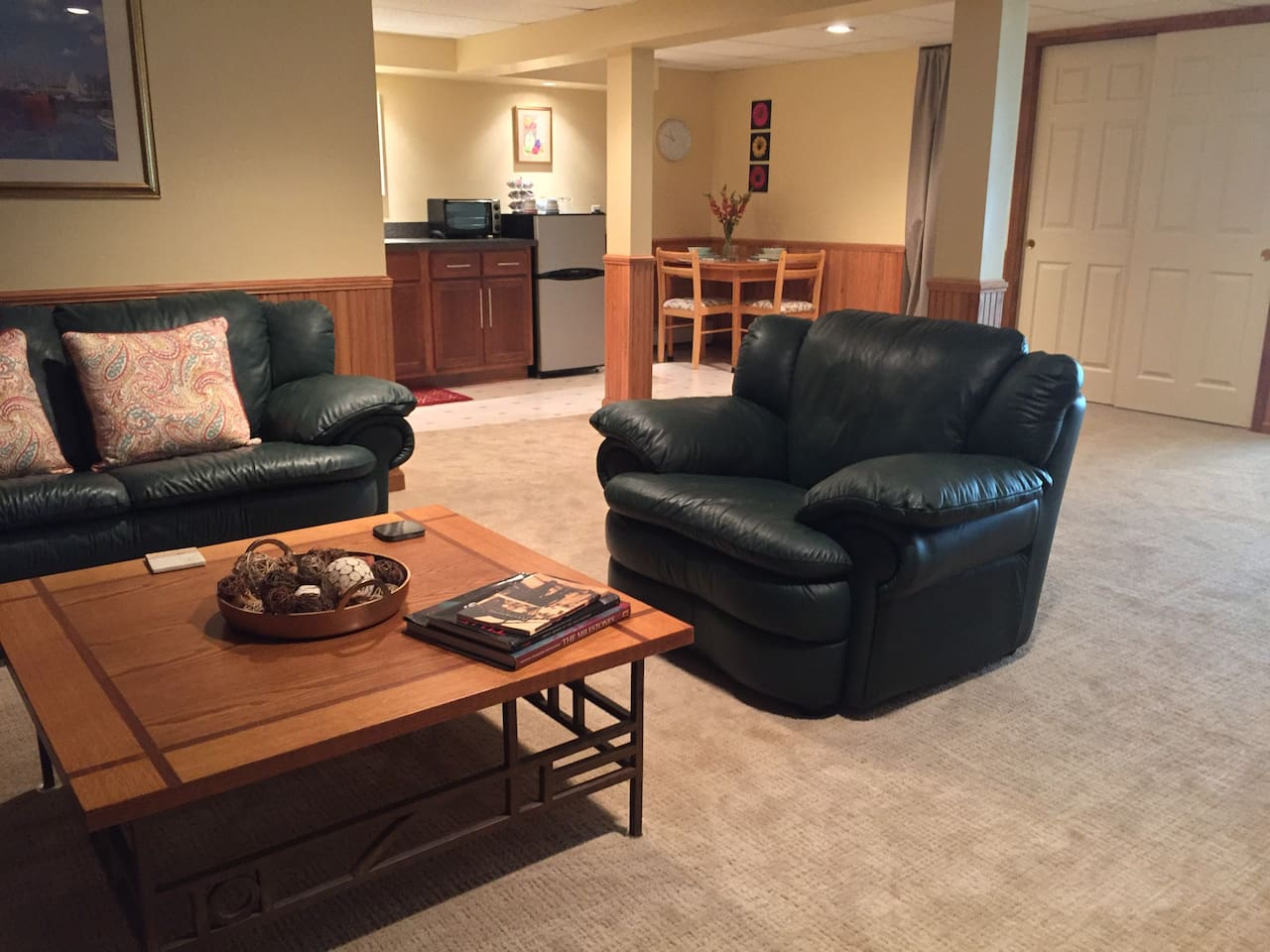 Newly renovated, comfortable relaxing living space