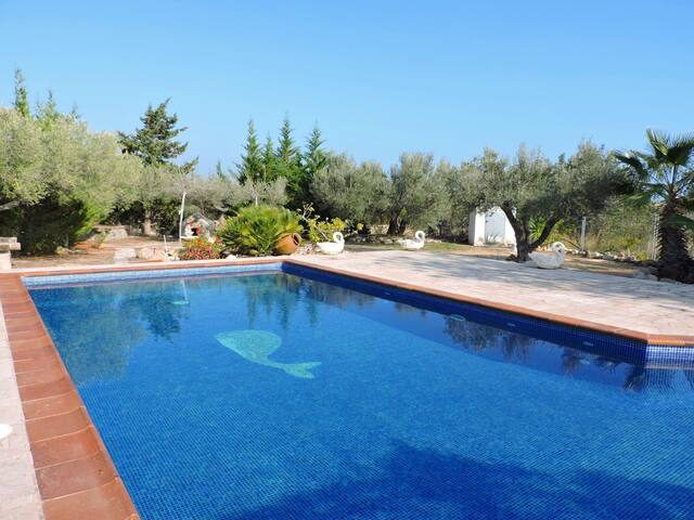SPECTACULAR HOUSE WITH PRIVATE POOL 1 KM FROM THE SEA