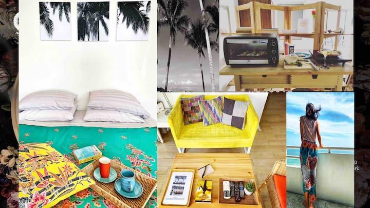 Sea view studio 1401 Bed&Beach Bangsaen FREE WI-FI
