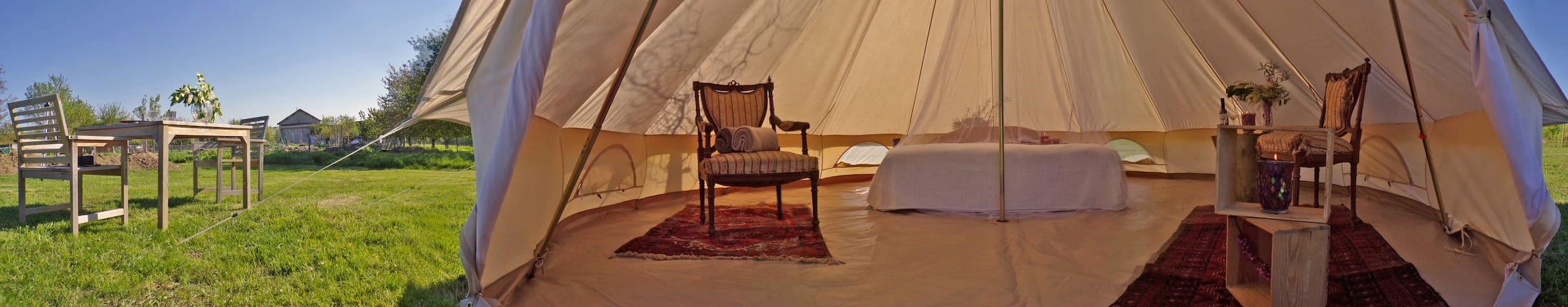 Tente-Tipi dans un camping écologique - Monestier - Zelt