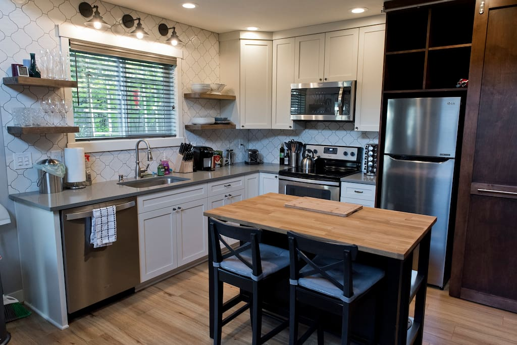 We've really worked on making the kitchen ideal for people who like to cook.