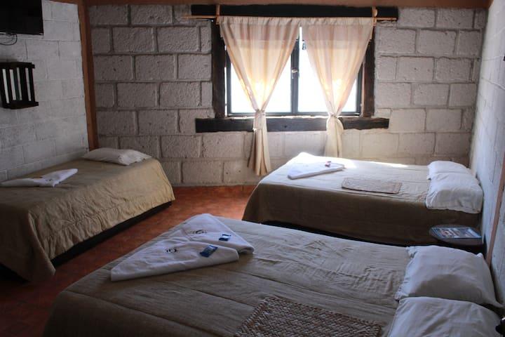 habitacion privada para #5 personas