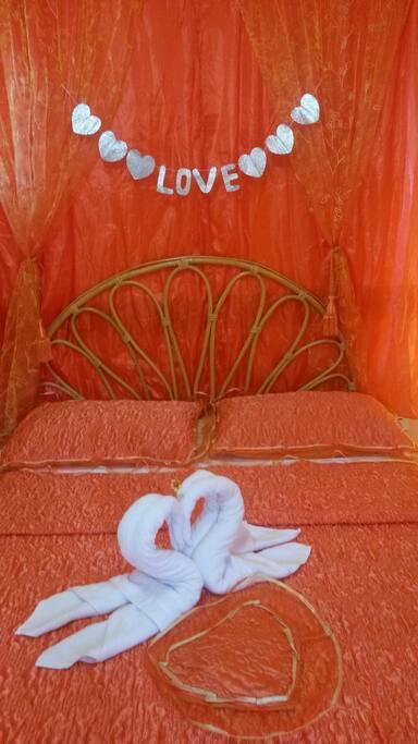 Romantiquísima habitación.