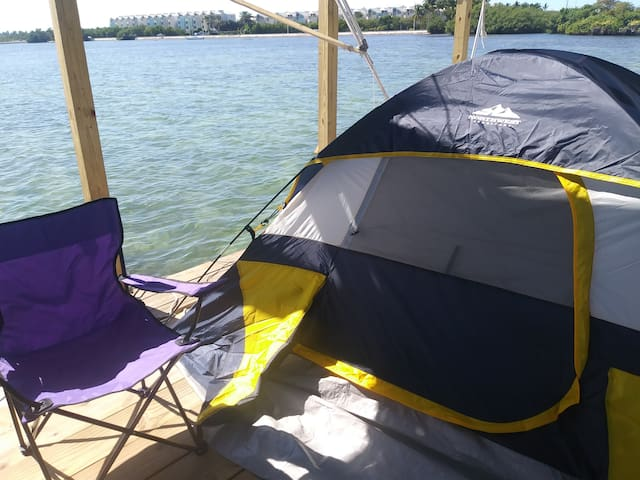 Last Minute Tent Camping on the Water w/Kayaks