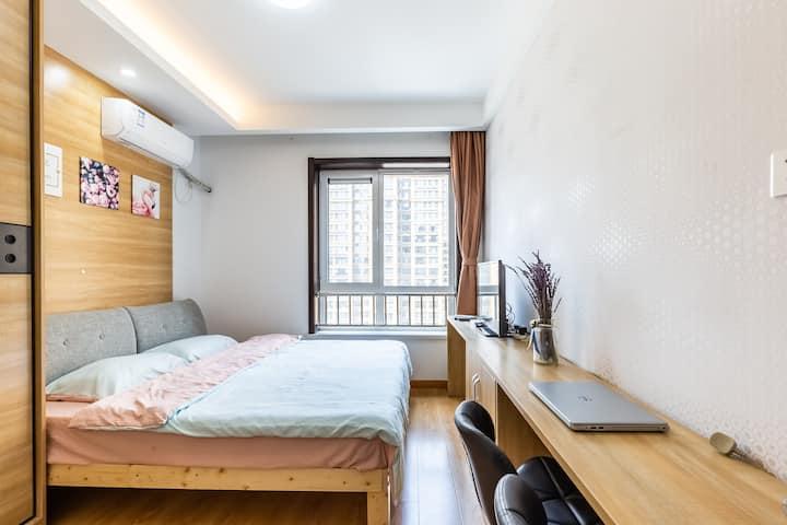 悦澜度假公寓♚CBD中央商务区♚精品大床房