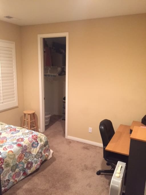 Desk and closet