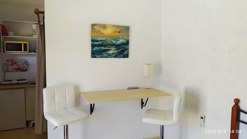 Mini Estudio 1 Con Cocina y Terraza Vistas Al Mar