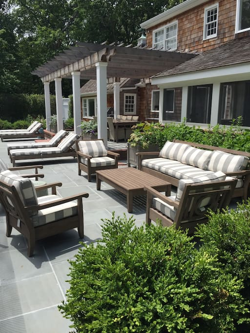 Ample areas for outdoor entertaining and lounging