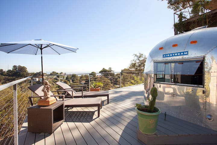 Hollywood Hills Airstream Glamping Top Views