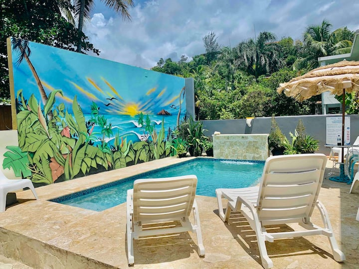 Unit 2 🌺 1BR 🏖Private Pool by Sandy Beach 🏝 2-4ppl
