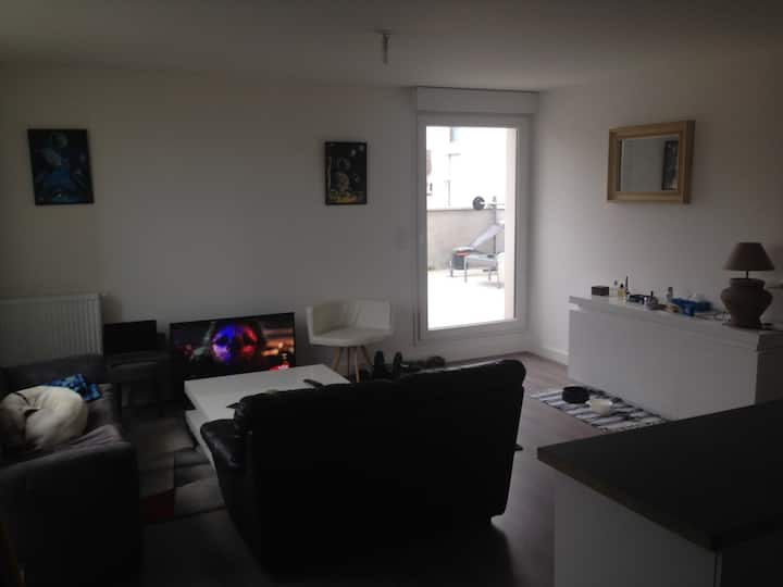 Appartement neuf type T2 a 10 min a pied du tram