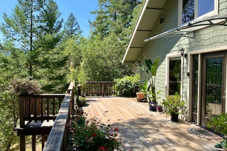 Avenue of the Giants Hilltop River View Home