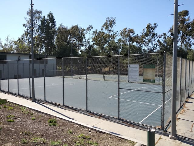 PARK INCLUDES TENNIS COURTS, BASEBALL FIELD, SOCCER FIELD, BASKETBALL COURTS AND PICNIC AREAS.