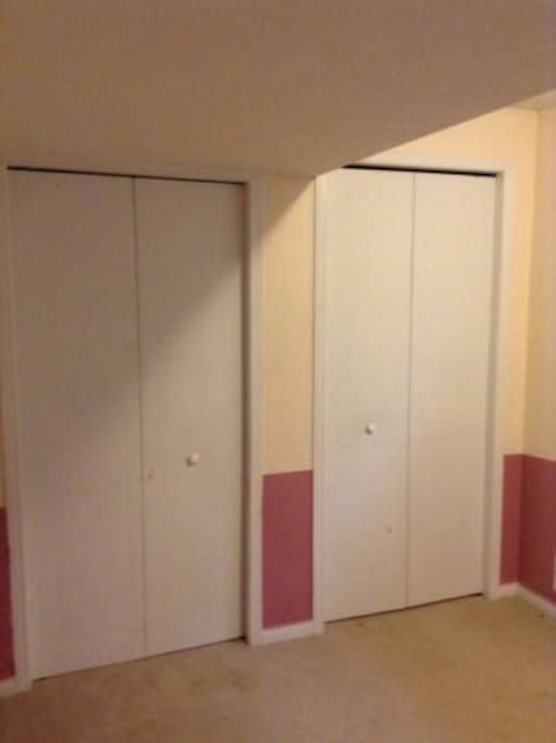Closets for your clothes and personal belongings.