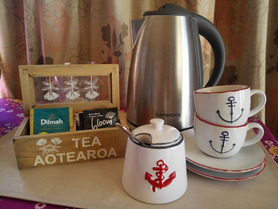 Tea/coffee amenities in your room