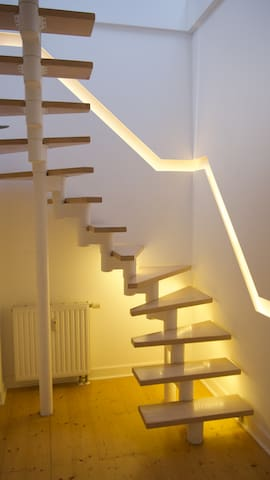 Internal stair from 4th to 5th floor