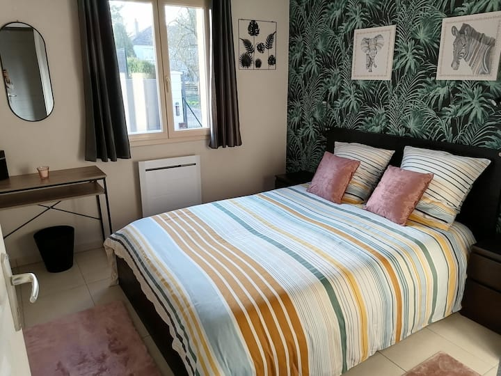 Chambre double, logement entier