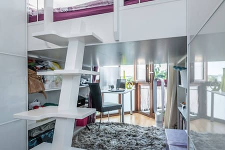 bright and modern with little office & balcony - München - Condominium