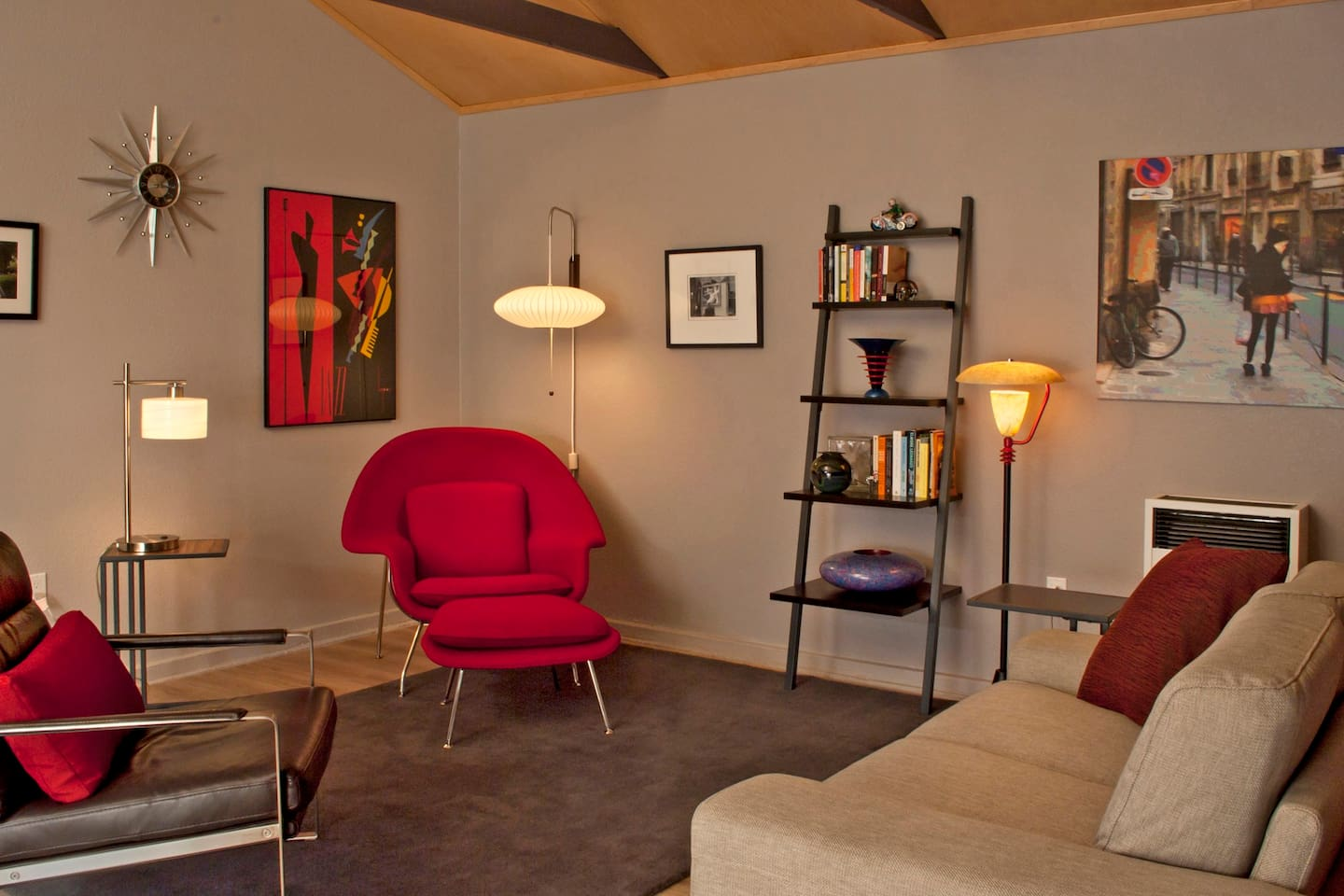 Modern living area to relax, enjoy a good book or just unwind