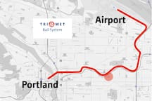 2 Blocks from Light Rail to Airport and Downtown.