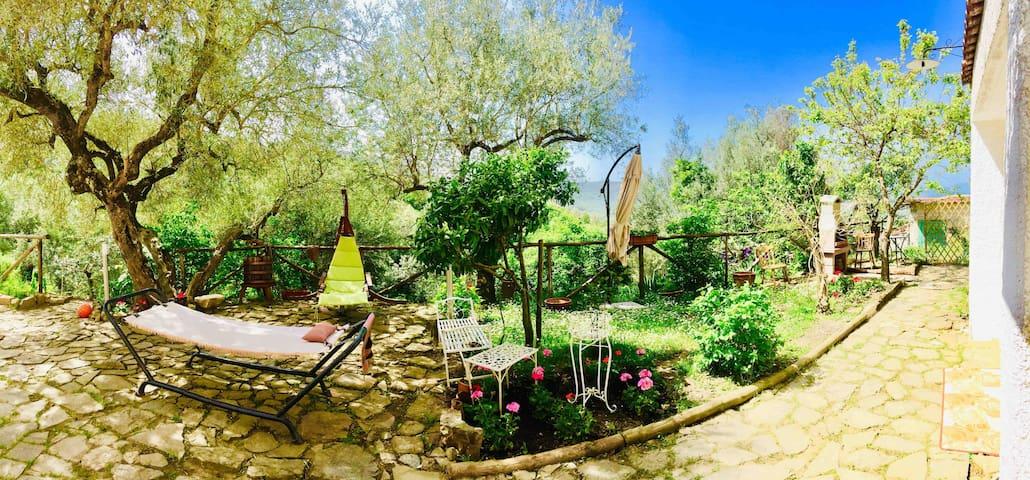 Casa Cilento con giardino, orto, mare e montagna