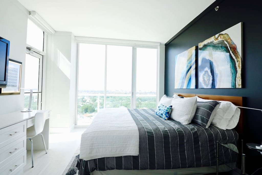 Enjoy the bright, clean and modern space during the day.