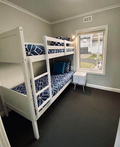 Bedroom 3 with bunks and comfortable mattresses