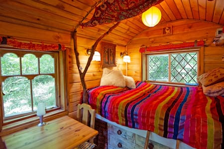 NEW: Romantic shepherd's hut in a woodland glade