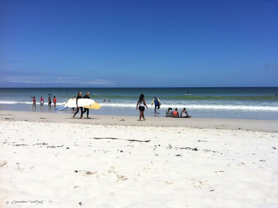 Muizenberg Beach, Surfers and Sunshine, since democracy in South Africa beaches are Multi-Racial