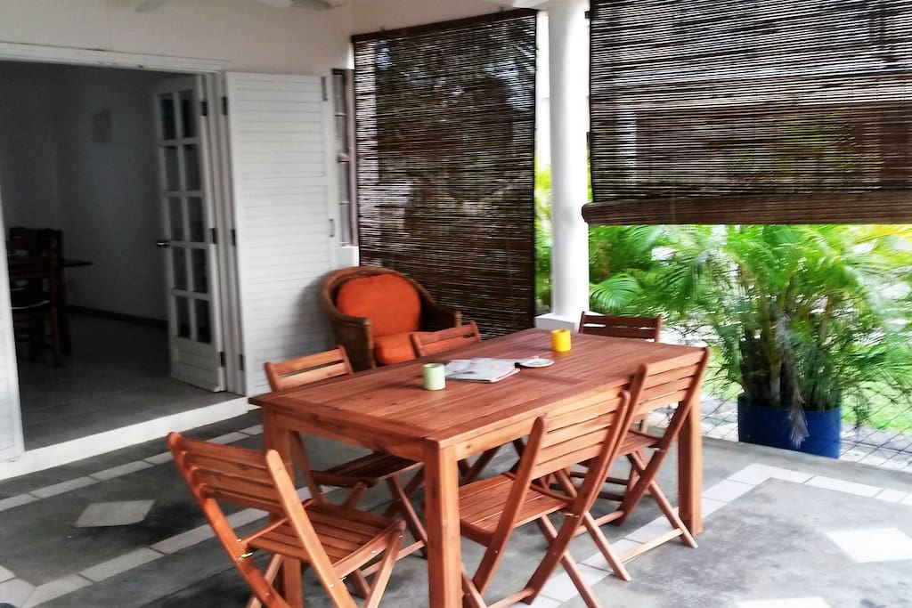 Great outside space including covered veranda and barbecue