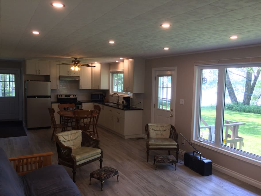 Newly renovated kitchen and living room