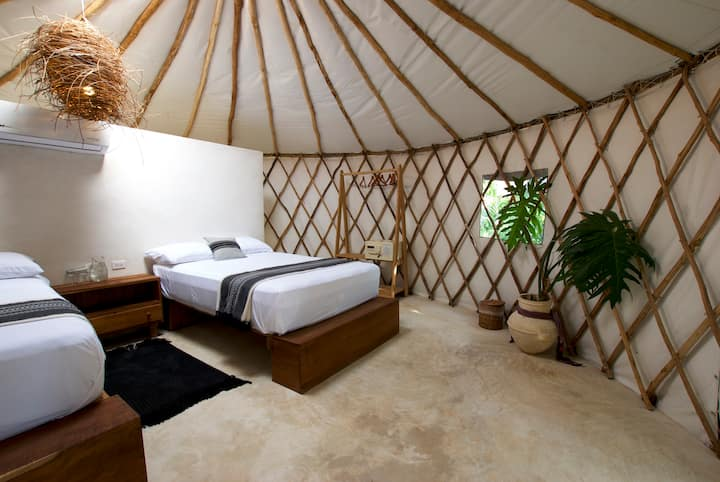Huaya Camp Twin Double Mayan Yurt