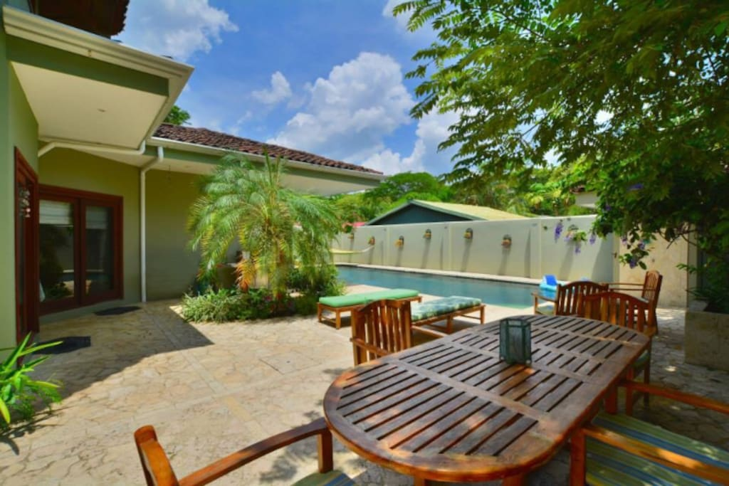 Large Patio and Pool Area