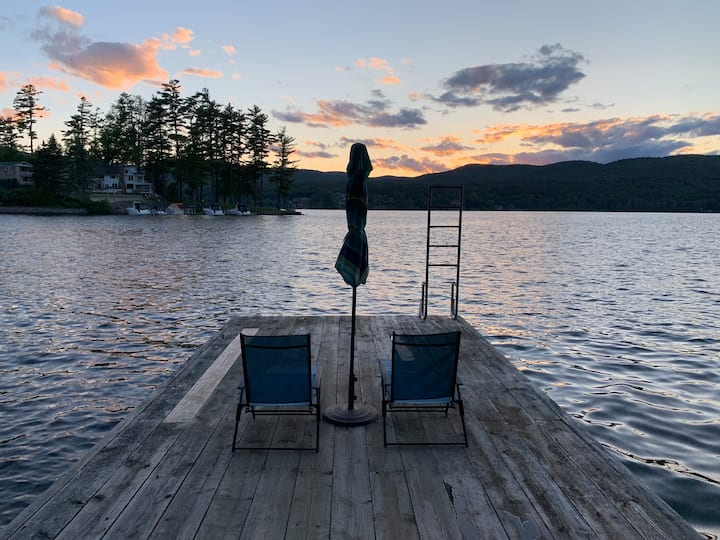 Cozy Cottage on Lake George with Dock